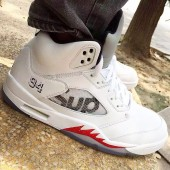 air jordan 5 x supreme ebay